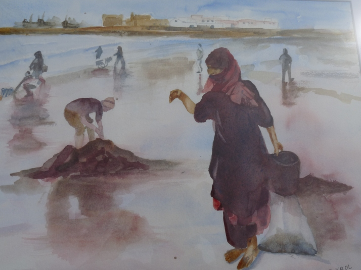 Ramasseurs de coquillages au Maroc