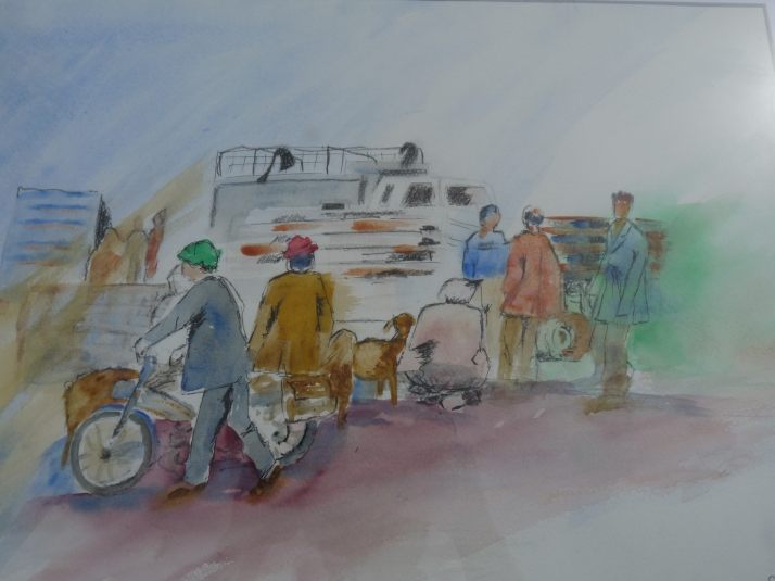 Marché aux moutons au Maroc