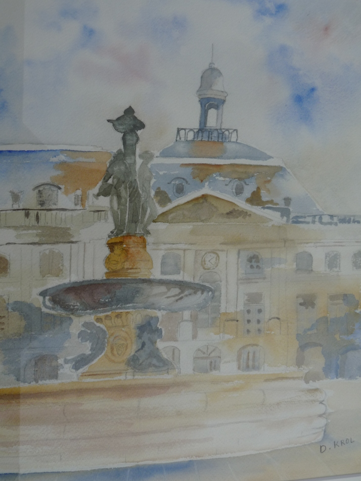 La fontaine de la place de la Bourse à Bordeaux